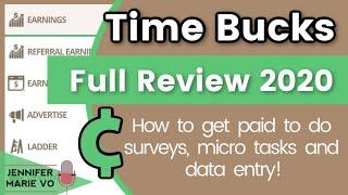 Timebucks Review 2020: How to Make Money Online from Surveys, Watching Videos, and More! (Worldwide)