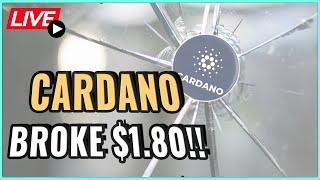 Cardano broke $1.80 resistance! What's next? + The successful Crypto mindset! Coffee N Crypto Live