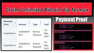 New Script | Claim Unlimited Bitcoin For Free Automatically | Via Faucetpay | Via Termux