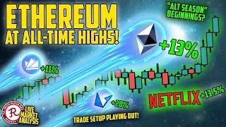BITCOIN LIVE : ETHEREUM (ETH) ALL TIME HIGHS! PRICE DISCOVERY SOON?