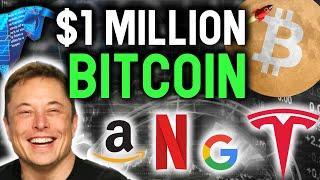 $1 MILLION BTC! Tesla's INSANE Bitcoin Buy will force AMAZON APPLE and GOOGLE to buy NEXT!