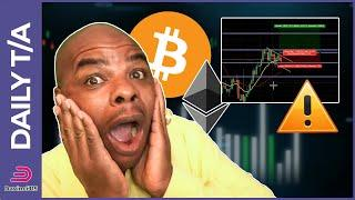 BITCOIN & ETHEREUM BULL FLAG OR BEAR PAW!!  [how to trade it]