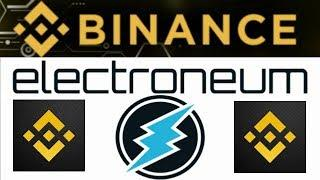 Binance Electroneum Add Next Big Thing For $ETN #Electroneum Mobil Mining Crypto