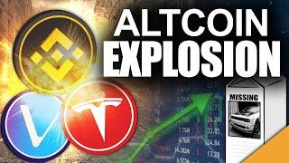 Altcoin EXPLOSION for Vechain & Binance Coin (My Hellcat Got STOLEN!)