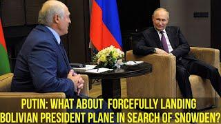 Lukashenko Tells Putin: I Will Show You Some Documents; You Will Understand What Is Happening!