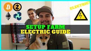How To Setup Crypto Mining Farm In House + Electric Setup + Ethernet + VoskCoin Studio Upgrades