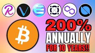 Crypto is KING! 200%+ Growth for 10 Years + Enjin, VeChain, ONT, REEF, MATIC and Elrond