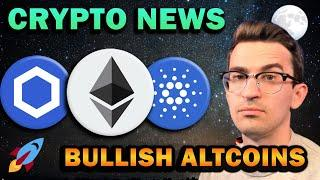 BIG CRYPTO NEWS!! Chainlink Bullish, Cardano Updates, Ethereum to Flip Bitcoin?