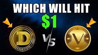 Cryptonews: Dogecoin Vs VeChain Which Will Hit $1 First? #VET