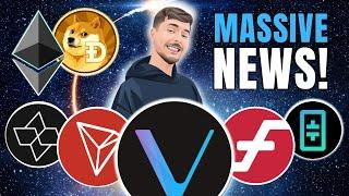 HUGE! MR. BEAST Invests in AIOZ! VeChain, THETA, Tron Pumping and Ethereum ETF + Coinbase Staking