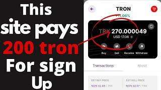 Tron Cloud Mining - How To Receive Free Unlimited Tron (TRX) Daily With Live Withdrawal Proof   Free
