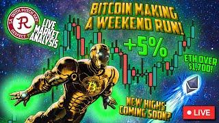 BITCOIN LIVE : BTC SATURDAY STREAM, DOGE GOING FOR IT?