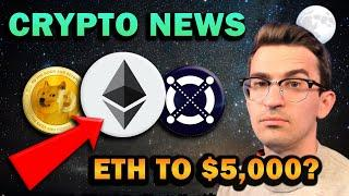BREAKING CRYPTO NEWS - Ethereum to $5,000!? Coinbase Stock, DOGE Pump