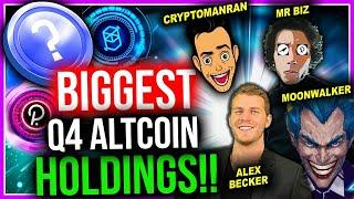 EXPERTS SHARE THEIR BIGGEST Q4 ALTCOIN POSITIONS!
