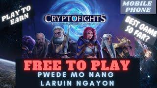 CRYPTOFIGHTS | one of the BEST GAMES so far | review and tutorial | FREE to PLAY | PLAY TO EARN |