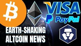 BIGGEST NEWS EVER!? VISA and PayPal to Globally Mainstream Ethereum and Cryptocurrency