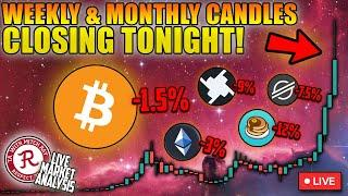BITCOIN LIVE : CRYPTO MONTHLY AND WEEKLY CANDLE CLOSE STREAM