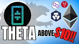 THETA Smashes Above $10.00 + Crypto.com CRO, Polygon (MATIC) and Elrond Updates