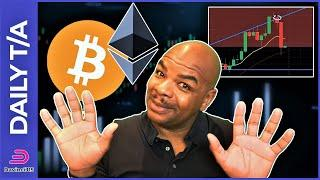 BITCOIN & ETHEREUM DOWN ONLY A BIT BUT NOT OUT!!