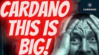 BIG CARDANO ADA NEWS  This Crypto Is Going To The Moon