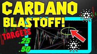 CARDANO PRICE BLASTS OFF AS ADA ALMOST HITS .20!