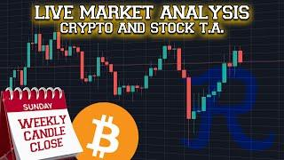BITCOIN LIVE : BTC WEEKLY CANDLE CLOSE STREAM, SELECT ALTCOINS MOON CONT.