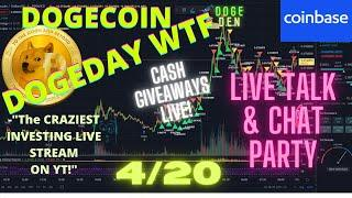 Dogecoin Price LIVE* 24/7 Dogeday Chart and Doge Talk! Price Prediction and Analysis CHAT LIVE TALK