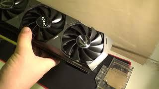 ZOTAC RTX 3090 Trinity | UNBOXING + INSTALL WB + TEST AIR/LC + MINING ETH + GAME