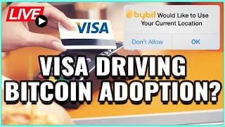 Visa Pioneering Bitcoin Payments? Bybit Wants to Know Your Location! Coffee N Crypto Live