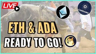 Ethereum and Cardano price set to resume Bull Run?! + Dogecoin now on Coinbase! Coffee N Crypto Live