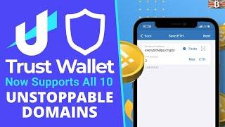 Transfer Crypto with Trust Wallet & Unstoppable Domains - Making Crypto Payments Simple