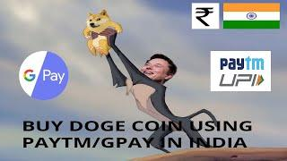 How to buy CRYPTOCURRENCY/DOGECOIN in India using Paytm/Google Pay [WAZIRX]