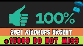 Get Free +1500$ | Instant Withwdrawal Airdrop | New Crypto Airdrop 2021 | Claim Free 1500$ Instant |