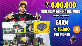 ₹ 6,00,000 Ethereum Mining Rig Build   Step By Step Guide   6x 3070