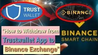How to Withdraw Binance Smart Chain from Trustwallet App to Binance Exchange | Step by Step Guide