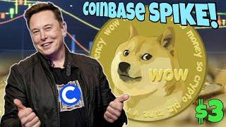 How Big Will Dogecoin SPIKE After Coinbase Adds DOGE?  Elon Musk HYPED ️