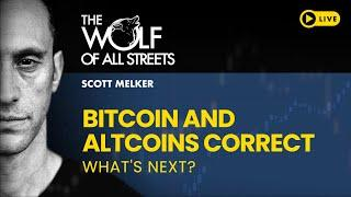 BITCOIN AND ALTCOINS CORRECT - WHAT NEXT? // CHARTING LIVE WITH SCOTT MELKER