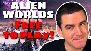 PLAY TO EARN CRYPTO Game ALIEN WORLDS Worth Playing? (Free to Play 2D NFT Timer Simulator, TLM Coin)