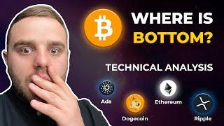 Bitcoin, time to buy bottom? XRP & DOGE show awesome patterns. TA for: ETH, ADA, DOT, BNB, LINK, LTC