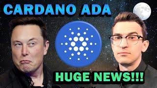 ELON MUSK BUYING CARDANO ADA!? MARY HARD FORK