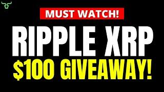 Ripple XRP $100 GIVEAWAY!!! Watch in 24hrs! | Brad Garlinghouse