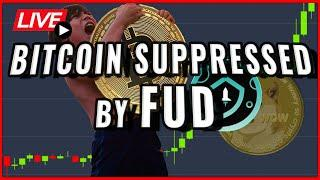 Bitcoin price suppressed by HUGE FUD!! + Safemoon Destroys Dogecoin Hype! Coffee N Crypto