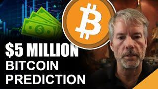 Michael Saylor Predicts $5 Million Bitcoin (One Question He WON'T Answer)