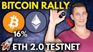 CRYPTO HERE TO STAY- BITCOIN BREAKOUT RALLY + ETH 2.0 Testnet LIVE  Crypto Trading Challenge