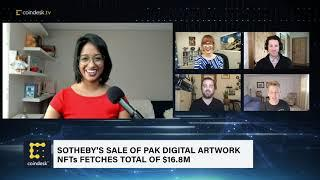 Sotheby's Auction of Pak Digital Art NFT Collection Sold for $16.8M | The Hash - CoinDesk TV