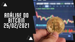 Análise Do Bitcoin, Binance Coin - 25/02/21 - CriptoGráfico