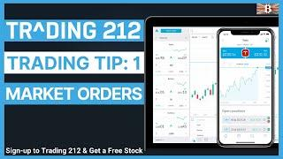 Beginners Guide to Trading 212: Market Orders (Trading Tips 1)