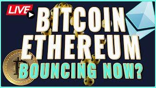 Bitcoin + Ethereum Price bouncing now! Preparing for Cardano Africa Special! Coffee N Crypto Live