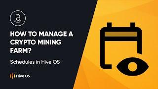 How To Manage A Crypto Mining Farm? II Schedules In Hive OS