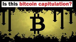 Bitcoin Crash: Has Extreme FEAR and Capitulation Been Reached Yet?